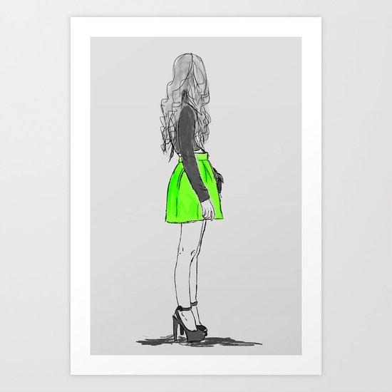 blogger girl  Art Print