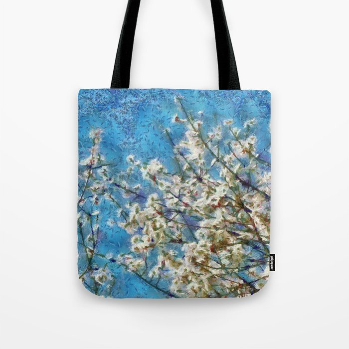 Blossom and Blue Sky In Monet Style Tote Bag