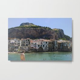 Cefalù Beach Metal Print