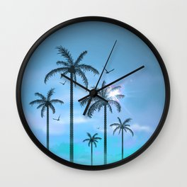 Palm Silouhette 6  Wall Clock