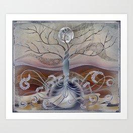 winter in the garden of eden Art Print