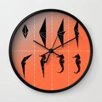 sea horse Wall Clocks featuring SEA HORSE by ARCHIGRAF