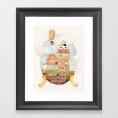 Keep your paradise in your heart Framed Art Print