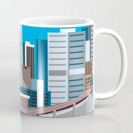 Calgary, Alberta, Canada - Skyline Illustration by Loose Petals Coffee Mug