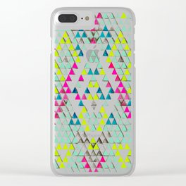 TRIANGLE SUMMER Clear iPhone Case