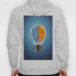 Left and Right Brain, how an idea originated, whether from the left or right brain Hoody
