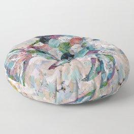 Rainbow Fish Collage Floor Pillow