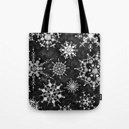 Gray Snowflakes Tote Bag