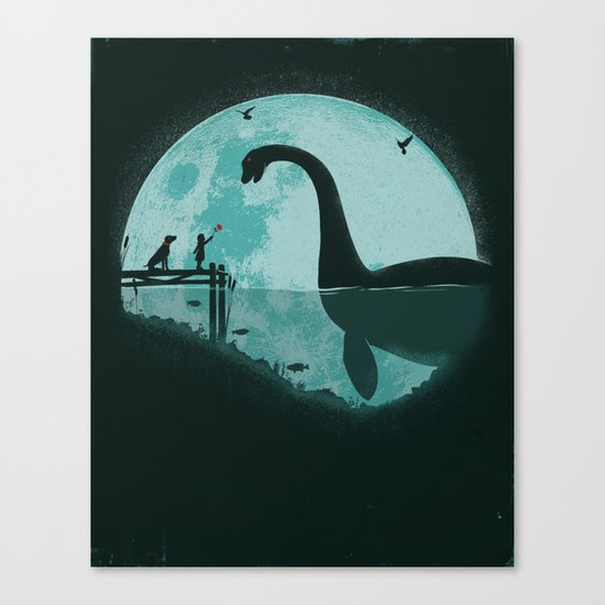 Encounter Under a Blue Moon Canvas Print