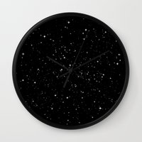 stars Wall Clocks featuring Stars by Jorge Lopez