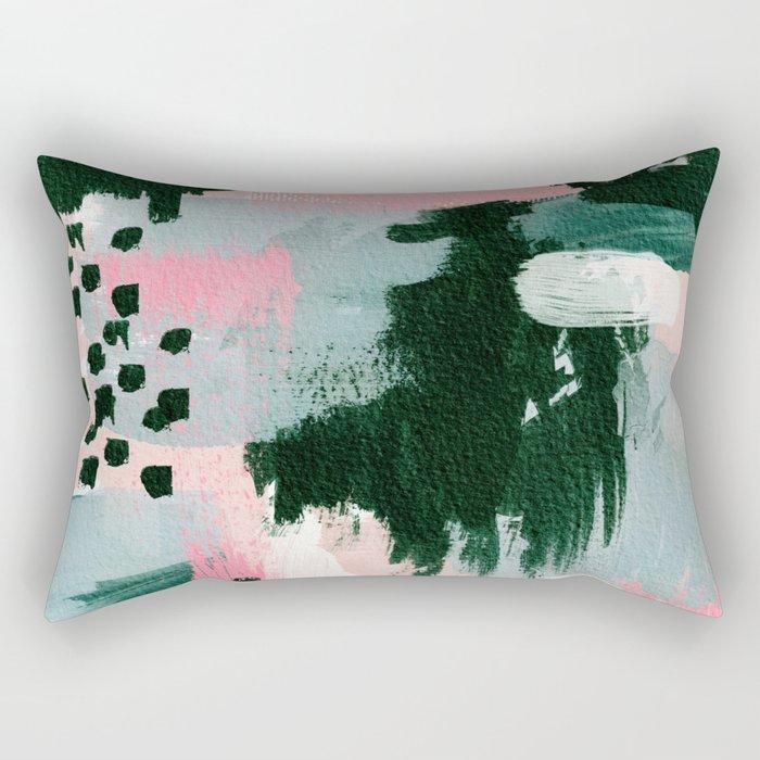 Emerald Bliss Rectangular Pillow