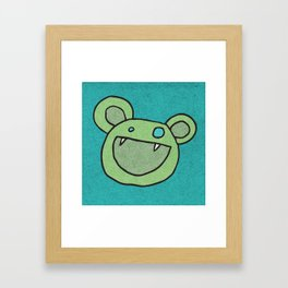 Slightly Amused Monsters, V Green Framed Art Print