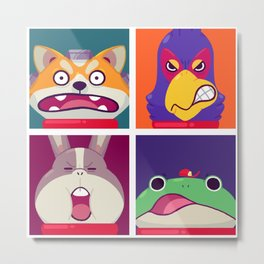 Star Fox Metal Print