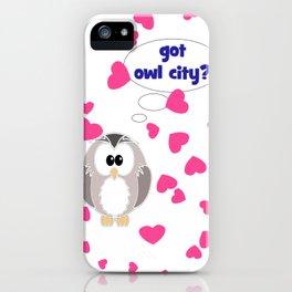 Got Owl City? iPhone Case