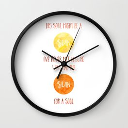 Sun for a Soul Wall Clock