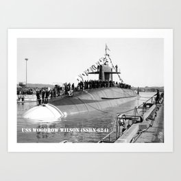 USS WOODROW WILSON (SSBN-624) Art Print