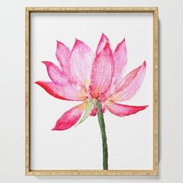 pink lotus flower Serving Tray
