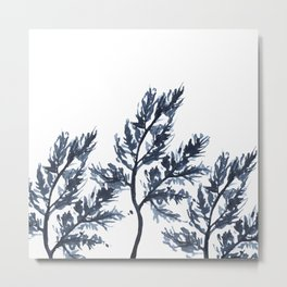 Blue branches Metal Print