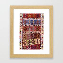 Taspinar Aksaray Antique Turkish Kilim Rug Print Framed Art Print