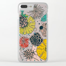 Olga loves flowers Clear iPhone Case