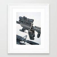 gun Framed Art Prints featuring Gun by Fahrudin