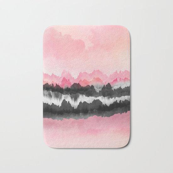Pink Mountains Bath Mat