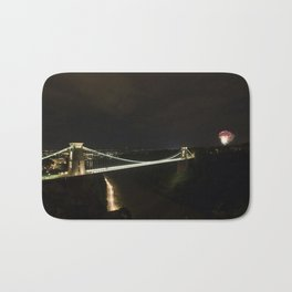 Clifton Suspension Bridge at Night Bath Mat