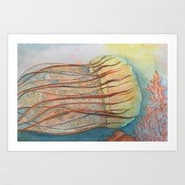 jelly fish Art Print