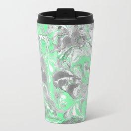 Light green and gray Marble texture acrylic paint art Travel Mug