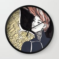 human Wall Clocks featuring HUMAN by Dulevartiano