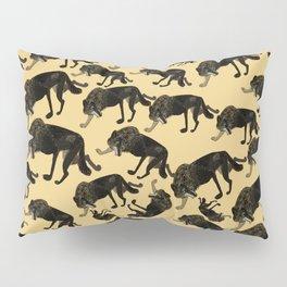 Totem black Buffalo wolf (nubilus) Yellow Pillow Sham