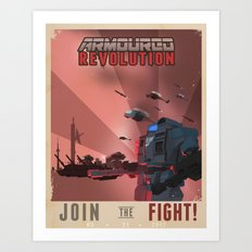 Armoured Revolution Propaganda Poster Art Print