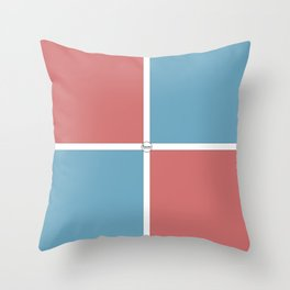 Summery Squares #summer #pink #blue #squares #graphicdesign #buyart #society6 #summergift #giftideas Throw Pillow