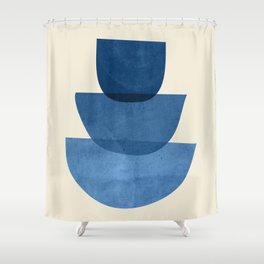 Abstract Shapes 37-Blue Shower Curtain