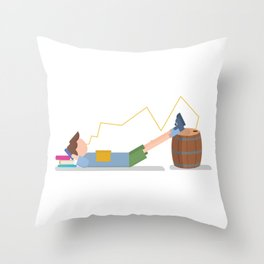 Work and progress Throw Pillow