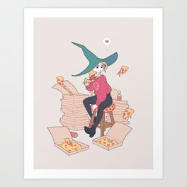 Pizza Witch Art Print