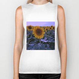 sunflower wonderland Biker Tank