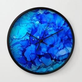 Blue Petunias Wall Clock