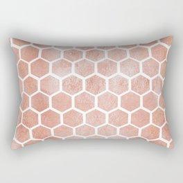 Rose gold bee cube Rectangular Pillow