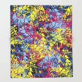 Abstract 6 Throw Blanket