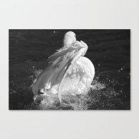 black swan Canvas Prints featuring Swan by Nonna Originals