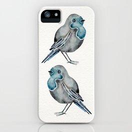 Little Blue Birds iPhone Case