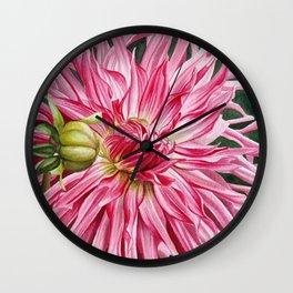 Dahlia 3 Wall Clock