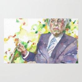 BORGES - watercolor portrait.3 Rug