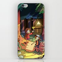 gravity falls iPhone & iPod Skins featuring Gravity Falls by Izzy