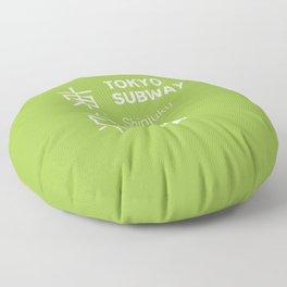 Tokyo Subway - Shinjuku Line Floor Pillow