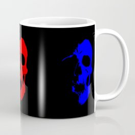 Skull 3x3 - Red/Blue/Yellow Coffee Mug