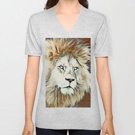 Warm colored Lion King Unisex V-Neck