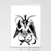 baphomet Stationery Cards featuring BAPHOMET by carolin walch