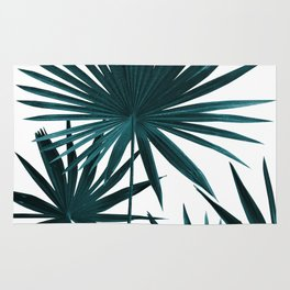 Fan Palm Leaves Jungle #1 #tropical #decor #art #society6 Rug